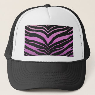 Trendy Girly Zebra Print Faded Pink to White Trucker Hat