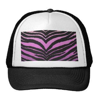 Trendy Girly Zebra Print Faded Pink to White Trucker Hat