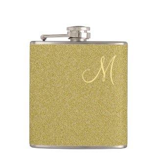 Trendy Glitter Gold Monogrammed