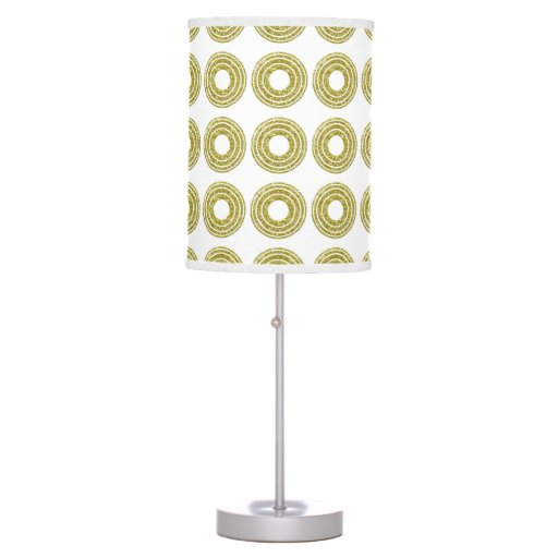 Trendy Glitter Gold Polka Dots Desk Lamp | Zazzle