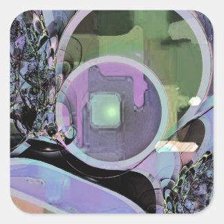 Trendy Goblet Design 002 Square Sticker
