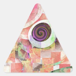 Trendy Goblet Design - 06-2 Triangle Sticker