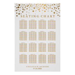 Trendy Gold Dots - Seating Chart