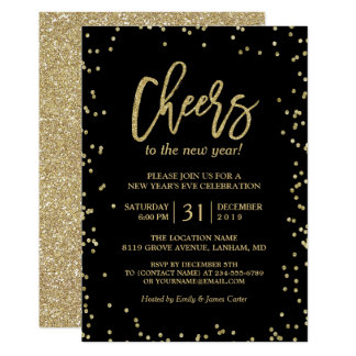 new year invite templates free - new years eve invitations announcements zazzle