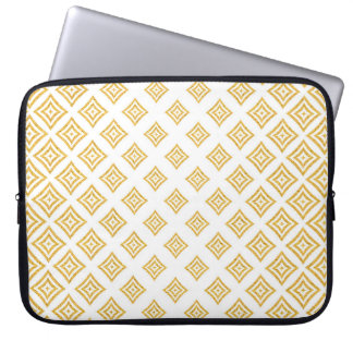 Trendy Gold Glitter Geometric Shapes Computer Sleeve