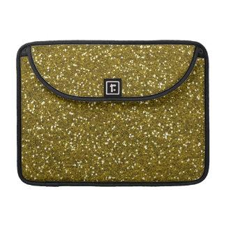 Trendy Gold Glitter Sleeves For MacBooks