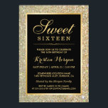 "Trendy Gold Glitter Sparkles Sweet Sixteen Party Invitation<br><div class=""desc"">Trendy Gold Glitter Sparkles Sweet Sixteen Party Invitation Template for you.  (1) For further customization,  please click the &quot;customize further&quot; link and use our design tool to modify this template.  (2) If you need help or matching items,  please contact me.</div>"