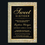 "Trendy Gold Glitter Sparkles Sweet Sixteen Party Invitation<br><div class=""desc"">Trendy Gold Glitter Sparkles Sweet Sixteen Party Invitation Template for you.  (1) For further customization,  please click the ""customize further"" link and use our design tool to modify this template.  (2) If you need help or matching items,  please contact me.</div>"