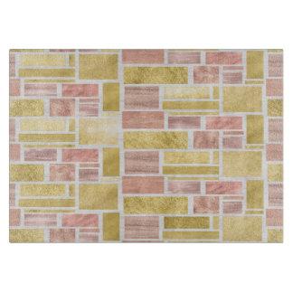 Trendy Gold Rose Gold Foil Blocks Cutting Board