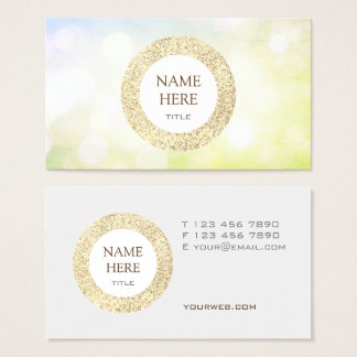 Trendy Gold Sequin Abstract Business Card
