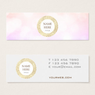 Trendy Gold Sequin Abstract Mini Business Card