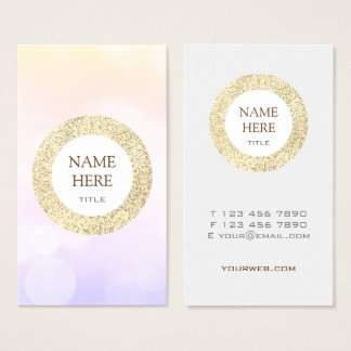 Trendy Gold Sequin Vertical Business Card