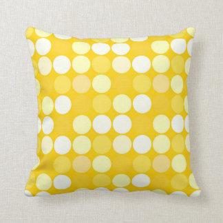 Trendy Golden Yellow Spotlights Throw Pillow