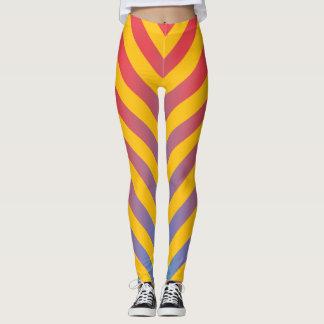 Trendy Graduated Diagonal Stripes Leggings