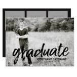 Trendy Graduation Announcement With 4 Photos at Zazzle
