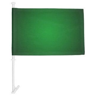 Trendy Grainy Green-Black Vignette Car Flag
