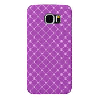 Trendy Grape, Purple Criss-Cross Pattern Samsung Galaxy S6 Case