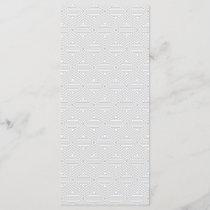 Trendy Gray and White Geometric Pattern