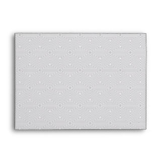 Trendy Gray and White Geometric Pattern Envelope