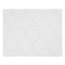 Trendy Gray and White Geometric Pattern Flyer