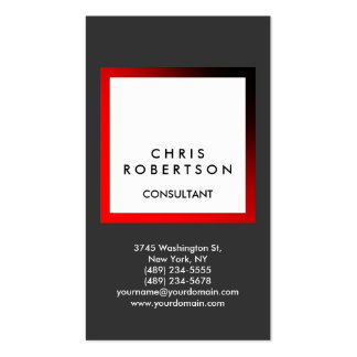 Trendy Gray White Stripe Consultant Business Card