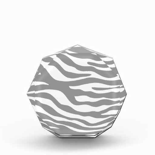 Trendy Gray Zebra Print Pattern Awards