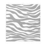 Trendy Gray Zebra Print Pattern Memo Pad