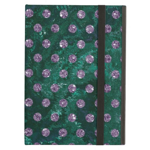 Trendy Green and faux rhinestones Case For iPad Air