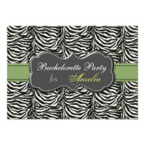 trendy green Bachelorette Party Invitations