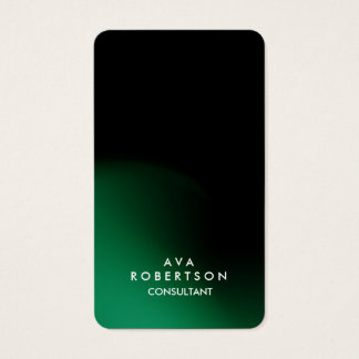 Trendy Green Black Creative Consultant Manager Business Card
