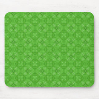 Trendy Green Circle Pattern Mouse Pad