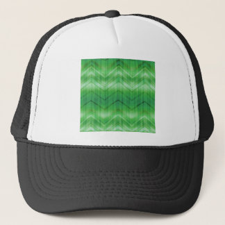 Trendy Green Girly Zigzag Stripes Pattern Trucker Hat