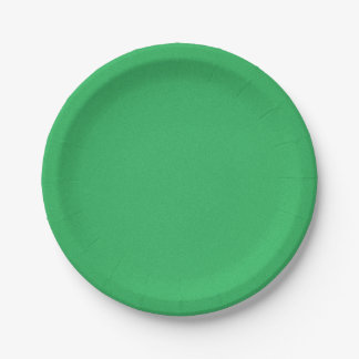 Trendy Green Grainy Background 7 Inch Paper Plate