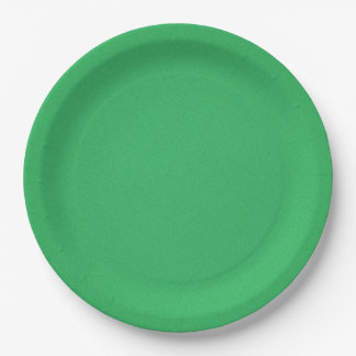 Trendy Green Grainy Background 9 Inch Paper Plate