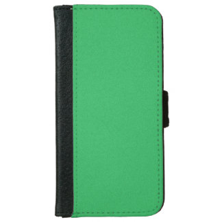 Trendy Green Grainy Background iPhone 6 Wallet Case