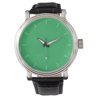 Trendy Green Grainy Background Watches
