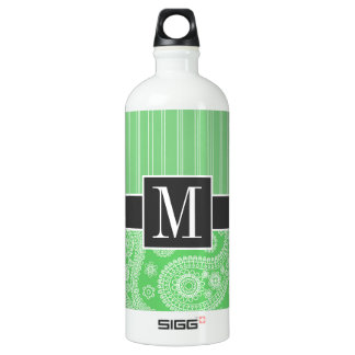 Trendy Green Paisley SIGG Traveler 1.0L Water Bottle