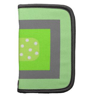 Trendy Green Pattern Folio Planner