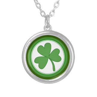 Trendy Green Shamrock Necklace