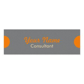 Trendy Grey and Orange Consultant Mini Business Card