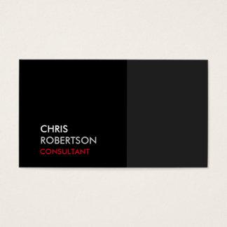 Trendy Grey Black Attractive Business Card