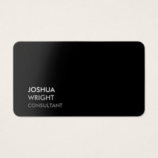 Trendy Grey Black Attractive Plain Chic Business Card