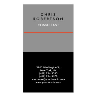 Trendy Grey Black Red Business Card