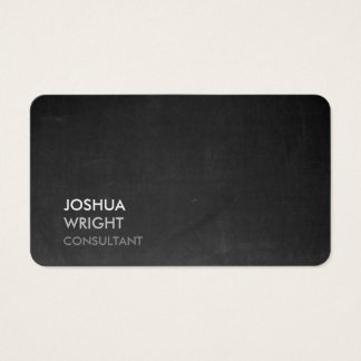 Trendy Grey Chalkboard Attractive Plain Chic Business Card
