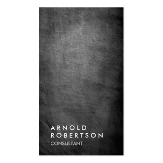 Trendy Grey Chalkboard Consultant Business Card