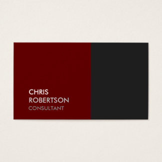 Trendy Grey Red Attractive Business Card