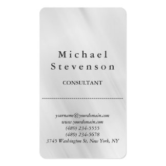 Trendy Grey Rounded Corner Business Card