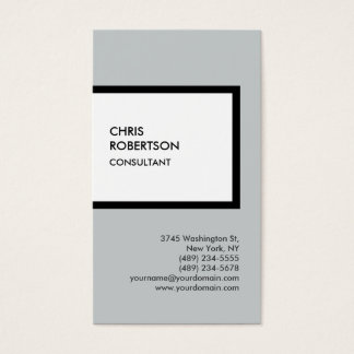 Trendy grey white vertical unique business card