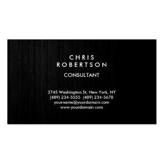 Trendy Grey Wood Effect Pattern Business Card