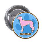 Trendy Greyhound Button